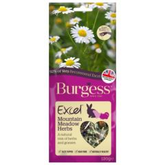 Burgess Excel Snacks Mountain Meadow Herbs 120g