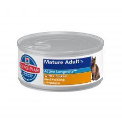 Hills Science Plan Feline Mature Adult 7+ Active Longevity with Chicken Wet 24x82g Can