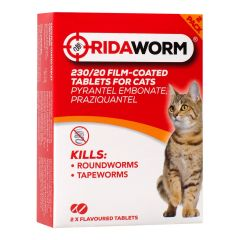 Ridaworm Film Coated Tablets for Cats - 2 Tablets