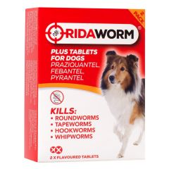Ridaworm Plus Tablets for Dogs - 2 Tablets