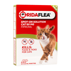 Ridaflea Spot-On Solution for Cats - 3 Pipettes
