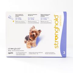 Stronghold 30mg Spot-On for Toy Dogs (weighing 2.6 - 5kg)