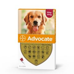 Advocate 250 Spot-On for Large Dogs (weighing 10 - 25kg)