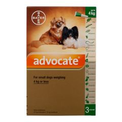 Advocate 40 Spot-On for Small Dogs (up to 4kg) - Pack of 3 pipettes