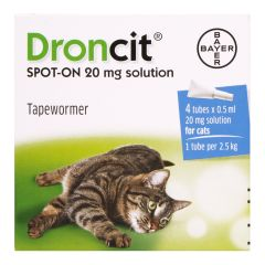 Droncit Spot On Cat Wormer 4 Pack