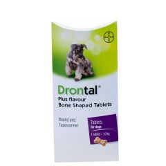 Drontal Plus Flavour Bone Shaped Worming Tablet