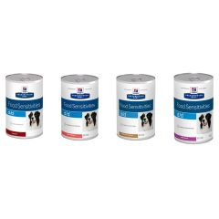 Hills Prescription Diet d/d Food Sensitivities Dog Food Wet 12x370g Can