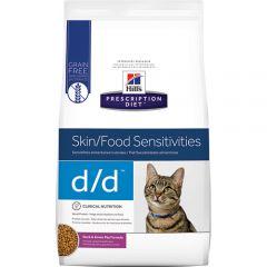 Hills Prescription Diet D/D Skin/Food Sensitivities Feline with Duck & Green Pea Dry 1.5kg
