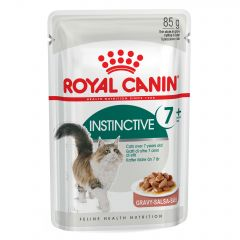 Royal Canin Feline Health Nutrition Instinctive 7+ (in Gravy) Wet Pouches 12x85g