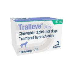 Tralieve Chewable Tablets for Dogs - Priced per Tablet -  80mg