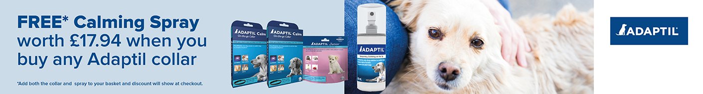 Free calming spray with any Adaptil collar in July