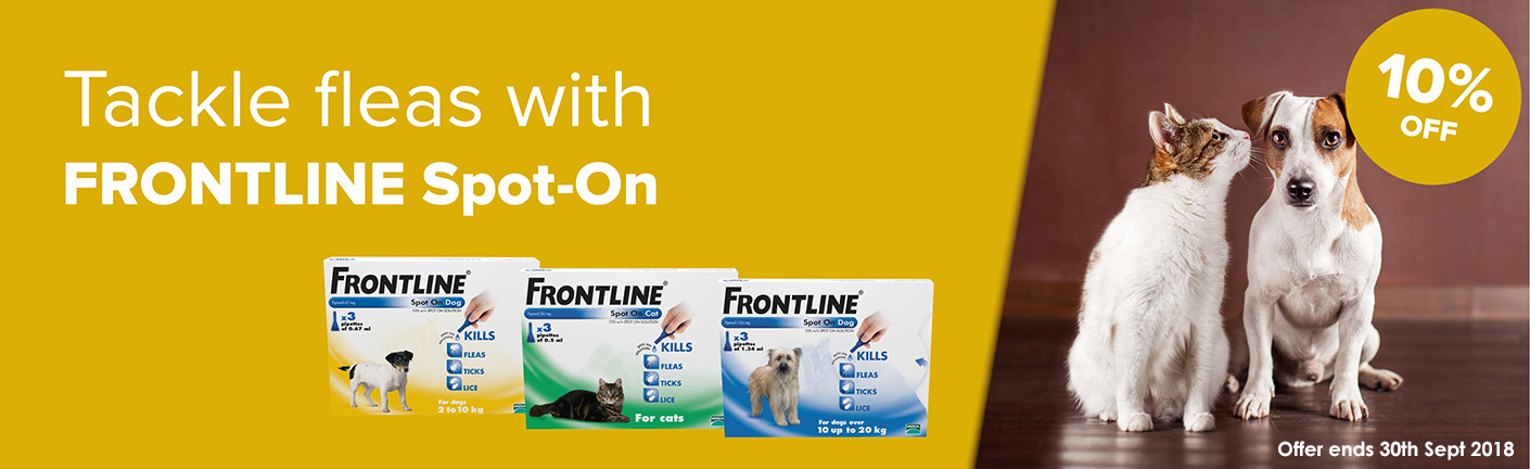 Save 10% with Frontline Spot On during September 2018