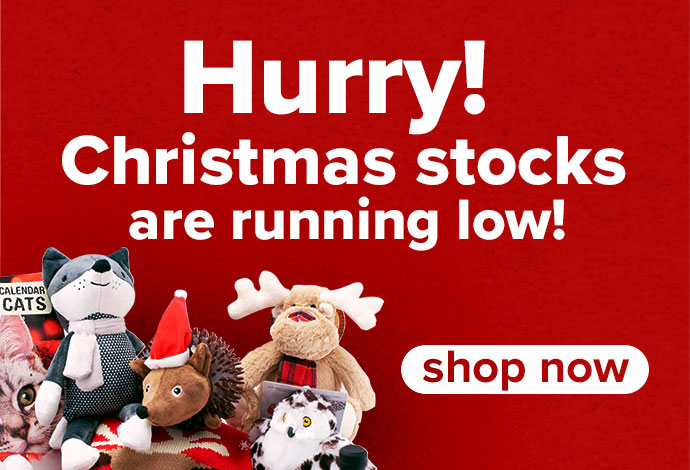 Our Christmas stock is running out!