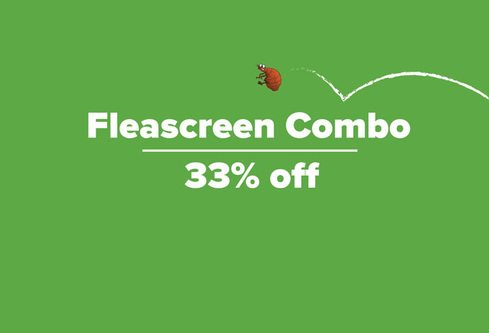 Save an amazing 33% off Fleascreen Combo