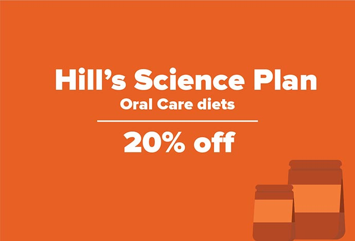 20% off Hills Science Plan Oral Care Diets