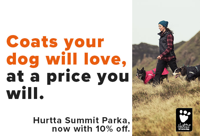 10% off Hurtta Summit Parka, offer ends 1st March